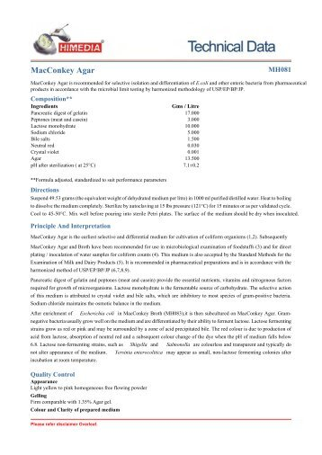 MacConkey Agar - HiMedia Laboratories