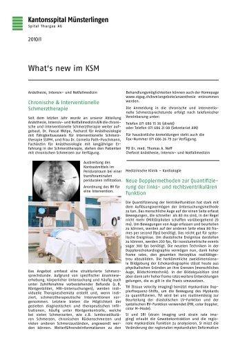 What's new im KSM - Spital Thurgau AG