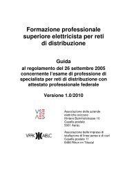 Formazione professionale superiore elettricista per reti di distribuzione