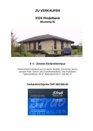 ZU VERKAUFEN 3324 Hindelbank Moosweg 66 ... - Strub Immobilien