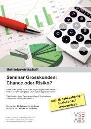 Seminar Grosskunden: Chance oder Risiko? - VSE