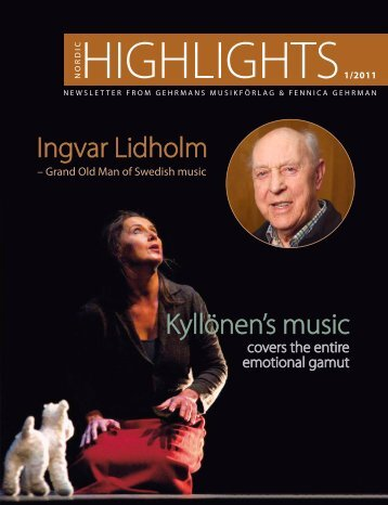 Ingvar Lidholm Kyllönen's music - Gehrmans Musikförlag