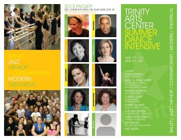 TRINITY ARTS CENTER SUMMER DANCE INTENSIVE