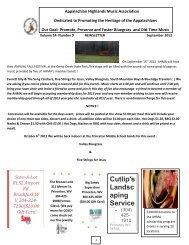 Cutlip's Landsc aping Service - Appalachian Highlands Music ...