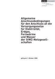 Allgemeine Anschlussbedingungen für den ... - StWZ Energie AG