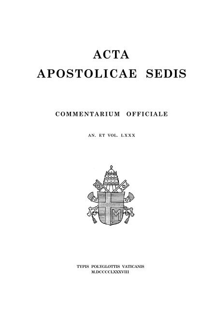 Aas 80 La Santa Sede