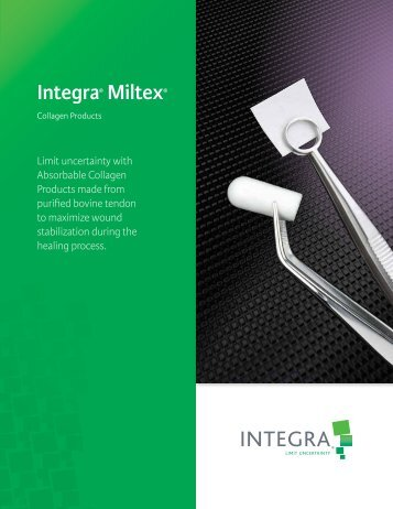 Collagen Products - Integra Miltex