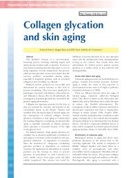 Collagen glycation and skin aging - Mibelle Biochemistry