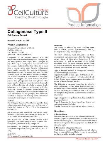 Collagenase Type II - HiMedia Laboratories