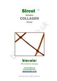 Sircol Assay Manual - Biocolor Assays
