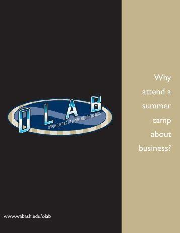2013 OLAB Brochure - Wabash College