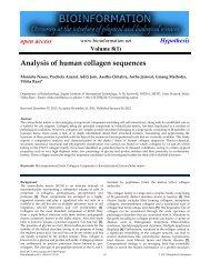 Analysis of human collagen sequences - Bioinformation