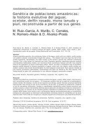Genética de poblaciones amazónicas: la historia evolutiva ... - Raco