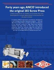 202 Screw Press - ANCO-EAGLIN Inc.