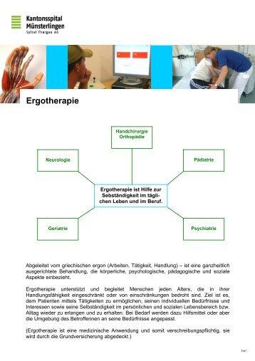 Ergotherapie (verschiedene Poster)