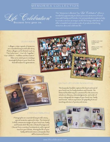 Memories Collection brochure - Life Celebration