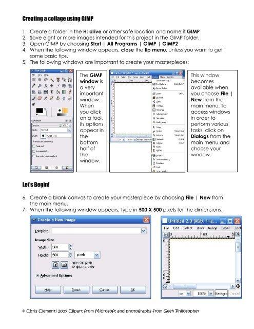 Creating a collage using GIMP Let's Begin! - Kidsnetsoft