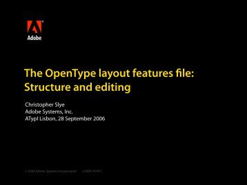 The OpenType Layout Features File: Structure and Editing