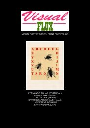 visual poetry screen print portfolios fernando aguiar ... - Boek 861