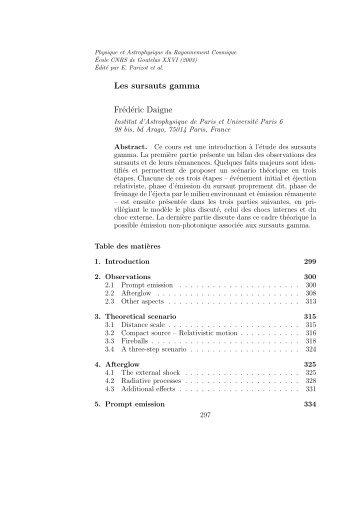 Les sursauts gamma Frédéric Daigne - de Etienne Parizot