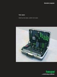 Tool cases Standard program ...convincing solutions - AX Soling