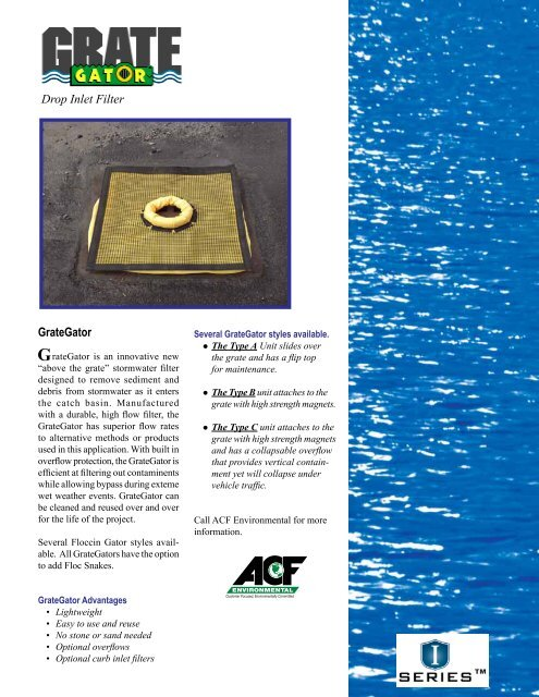 1. GrateGator Brochure - ACF Environmental