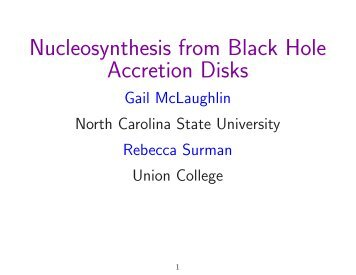 Nucleosynthesis from Black Hole Accretion Disks