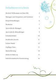 Inhaltsverzeichnis - Hotel Eden