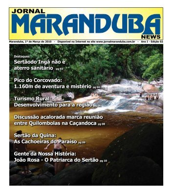 Sertãodo Ingá não é aterro sanitário pg 03 Pico do Corcovado ...