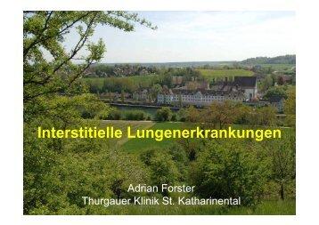Interstitielle Lungenerkrankungen - Spital Thurgau AG