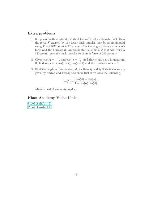 Example 5  Express csc(