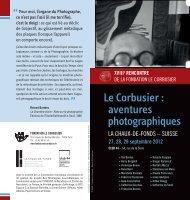 XVIIIe RENCONTRE - Fondation Le Corbusier