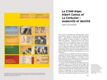 Le CIAM-Alger, Albert Camus et Le Corbusier : modernité et identité