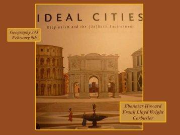 Ebenezer Howard Frank Lloyd Wright Corbusier - People & Places ...