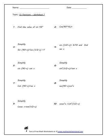 Printables Math Worksheet Land distance formula worksheet five pack math worksheets land co functions land