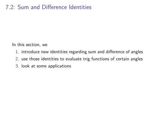Cofunction Identities Re