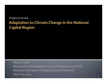 COG - Metropolitan Washington Council of Governments