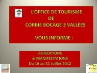 Programme animations et manifestations - Corbie Bocage 3 vallées