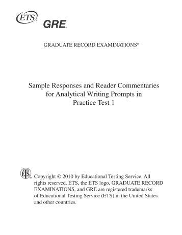 gre essay practice online Scoreitnow is an online writing practice service from ets, maker of the gre for us$20, you can write two responses to real analytical writing prompts and have them scored by e-rater, the automated essay scoring software used to check gre essay scores assigned by human raters i signed up and wrote an argument.