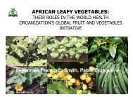 (Microsoft PowerPoint - AFRICAN LEAFY VEGETABLES THEIR ...