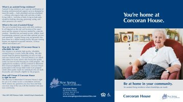 You're home at Corcoran House. - New Spring Senior Communities