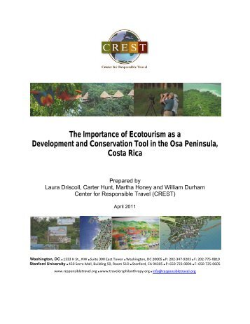 The Importance of Ecotourism as a Development and - Center for ...