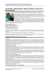 Costa Rica: Individualreise - Manuel Antonio ... - Intakt-Reisen