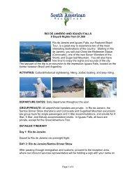 Rio de Janeiro and Iguazu Falls - South America Tours