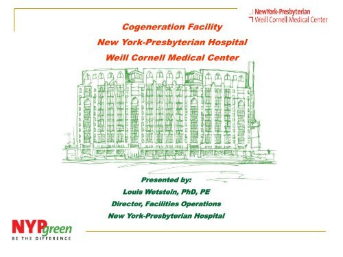 Cogeneration Facility New York-Presbyterian Hospital Weill Cornell
