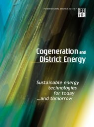 Cogeneration and District Energy - Sustainable Energy ... - IEA