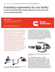 Evaluating cogeneration for your facility - Cummins Inc.