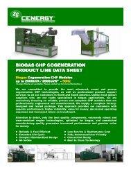 BIOGAS CHP COGENERATION PRODUCT LINE ... - 2G Cenergy