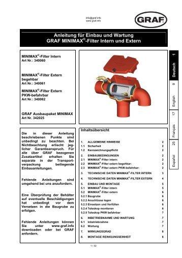 Filter Intern und Extern - Franz Suter GmbH Pumpen und Systeme