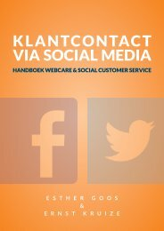KLANTCONTACT VIA SOCIAL MEDIA
